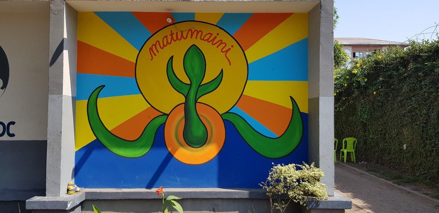 Wall mural at Matumaini orphanage in Kinshasa, DRC, October 5, 2019 UN GLOBAL COMPACT NETWORK UK/Benafsha Delgado