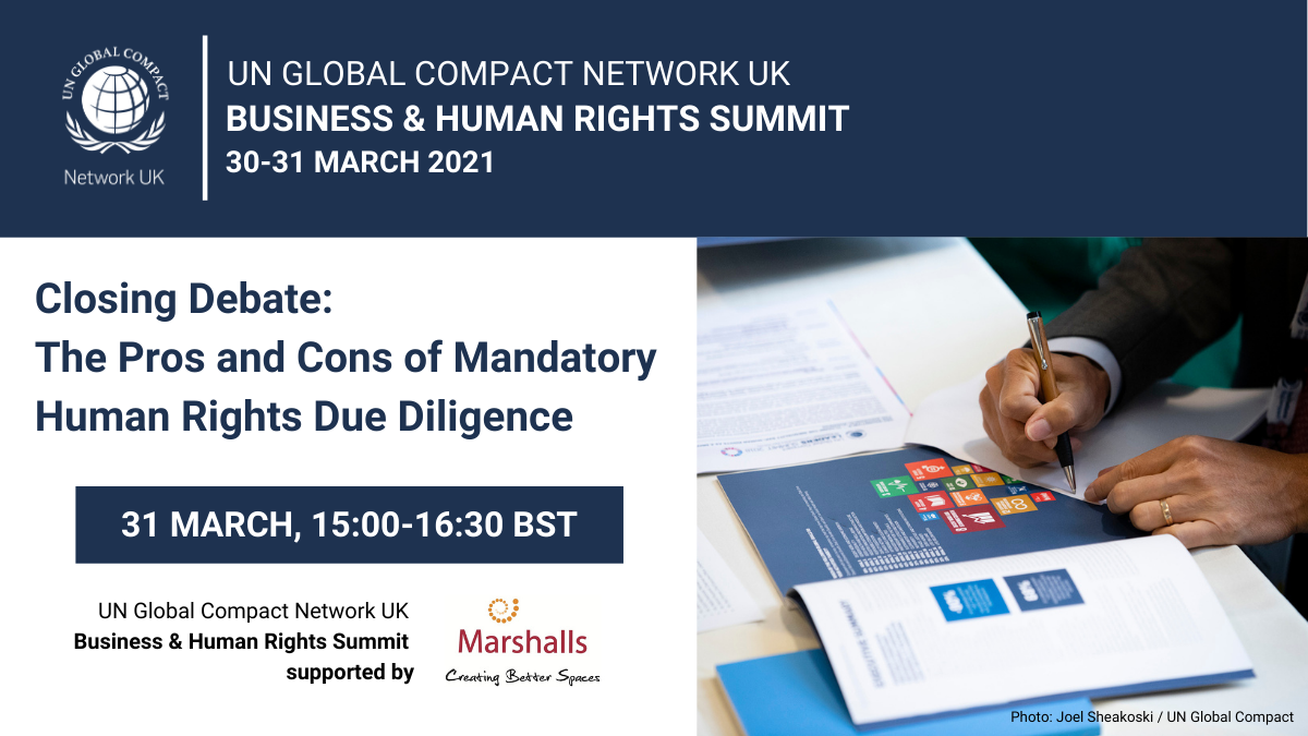 CLOSING DEBATE THE PROS AND CONS OF MANDATORY HUMAN RIGHTS DUE DILIGENCE