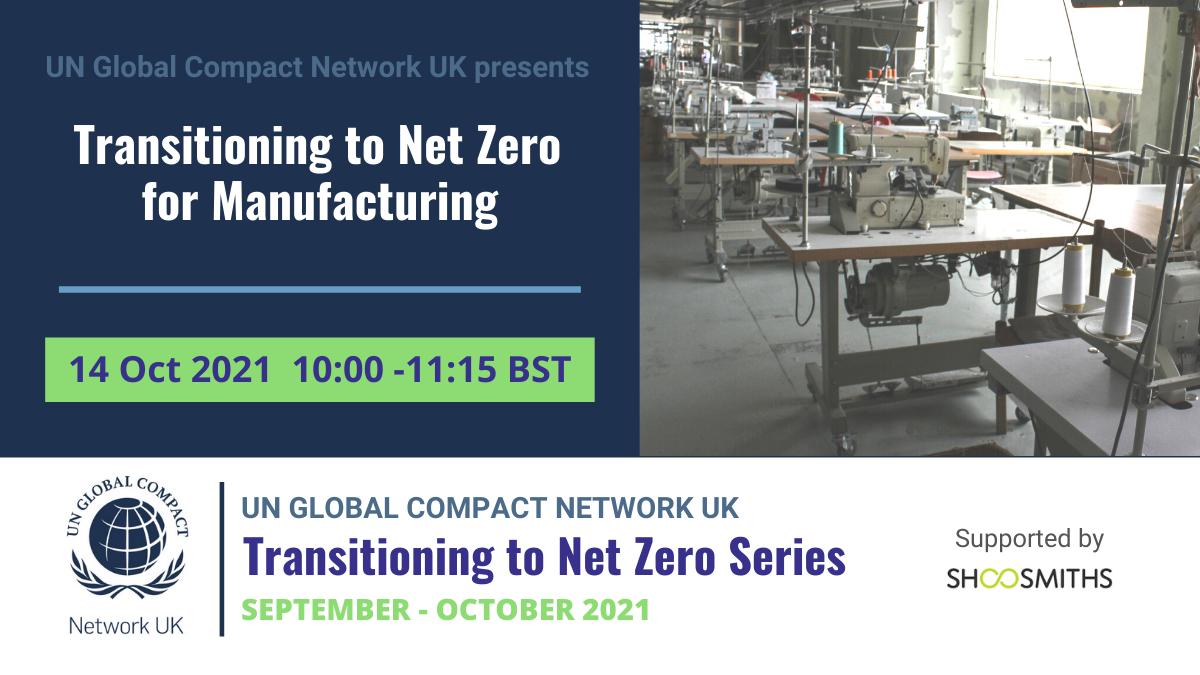 Transitioning to Net Zero - Manufacturing