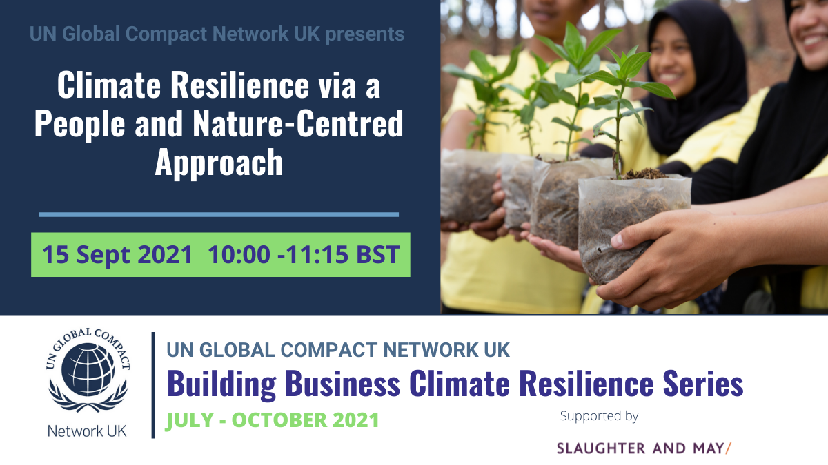 Climate-Resilience Via A People and Nature-Centred Approach