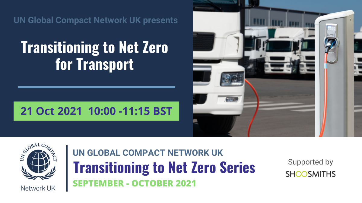Transitioning to Net Zero - Transport