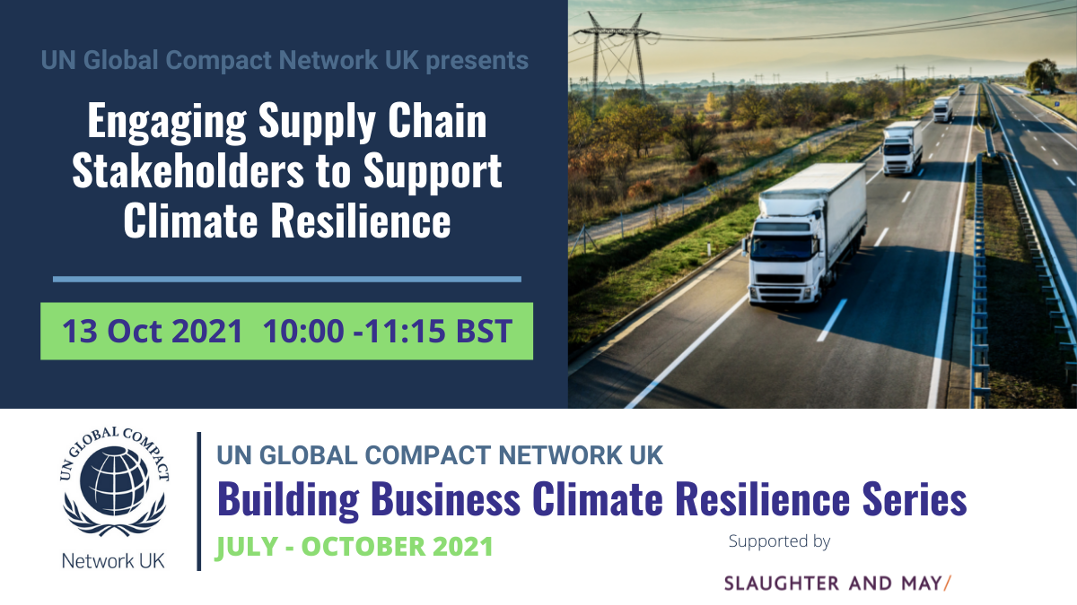 Engaging Supply Chain Stakeholders to Support Climate Resilience