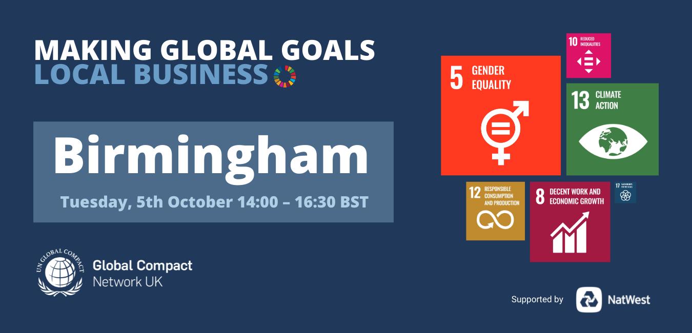 Making Global Goals Local Business Birmingham