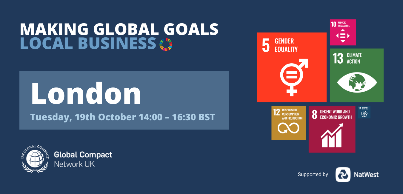 Making Global Goals Local Business London