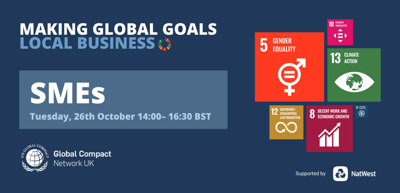 Making Global Goals Local Business SMEs